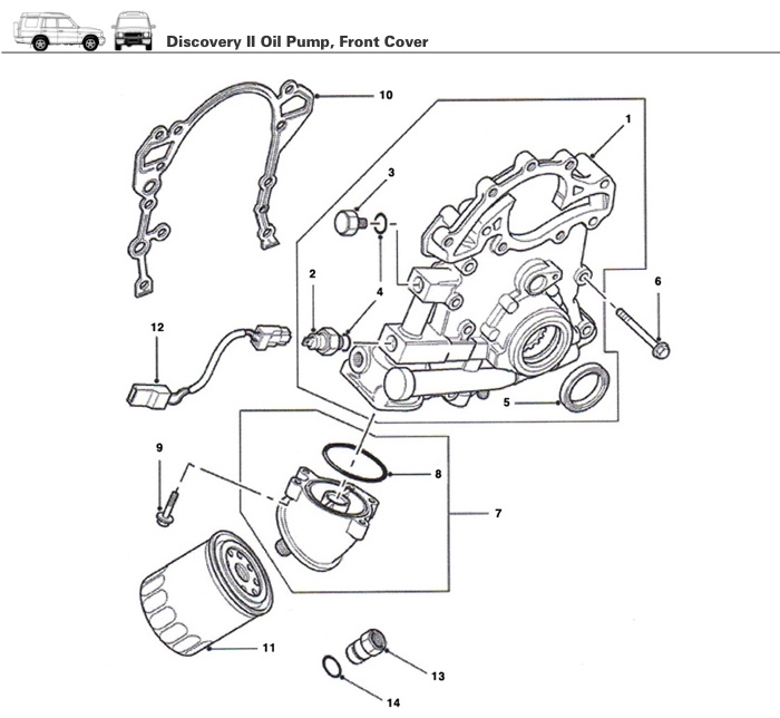 Discovery Ii Engine Oil Pump - Rovers North - Classic Land Rover Parts inside 2003 Land Rover Discovery Engine Diagram
