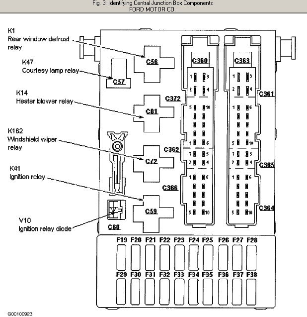 1998 ford contour engine diagram | automotive parts ... 1996 ford contour fuse box