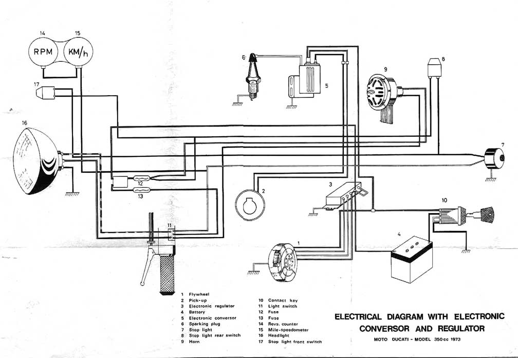 Ducati Wiring Diagrams Rotax Ducati Ignition Wiring Diagram Rotax regarding Chevy 350 Engine Wiring Diagram
