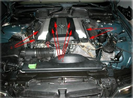 e38 bmw 740i/il m62 intake manifold removal with regard to ... 2001 bmw engine diagram 2000 bmw engine diagram