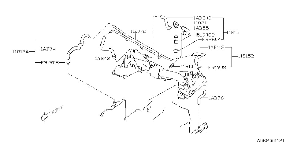 Emission Control - Pcv For 2002 Subaru Impreza Wrx with 2002 Subaru Wrx Engine Diagram