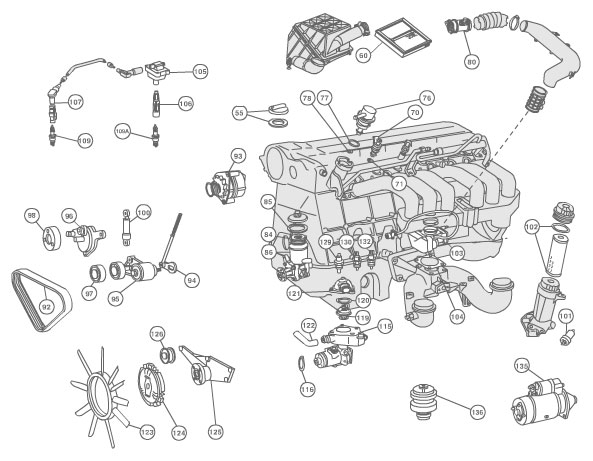 Engine Compartment Diagram - Mbworld Forums within 2001 Bmw 740Il Engine Diagram