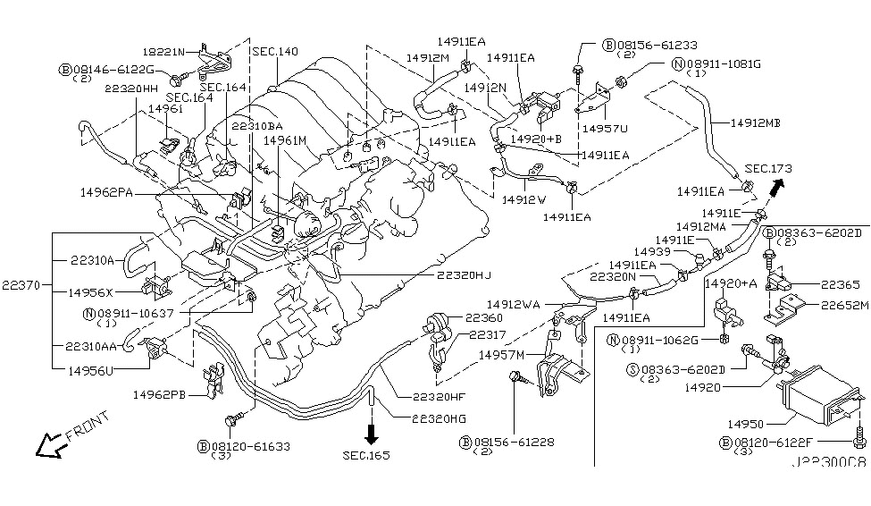 2002    Nissan       Pathfinder    Engine    Diagram      Automotive    Parts