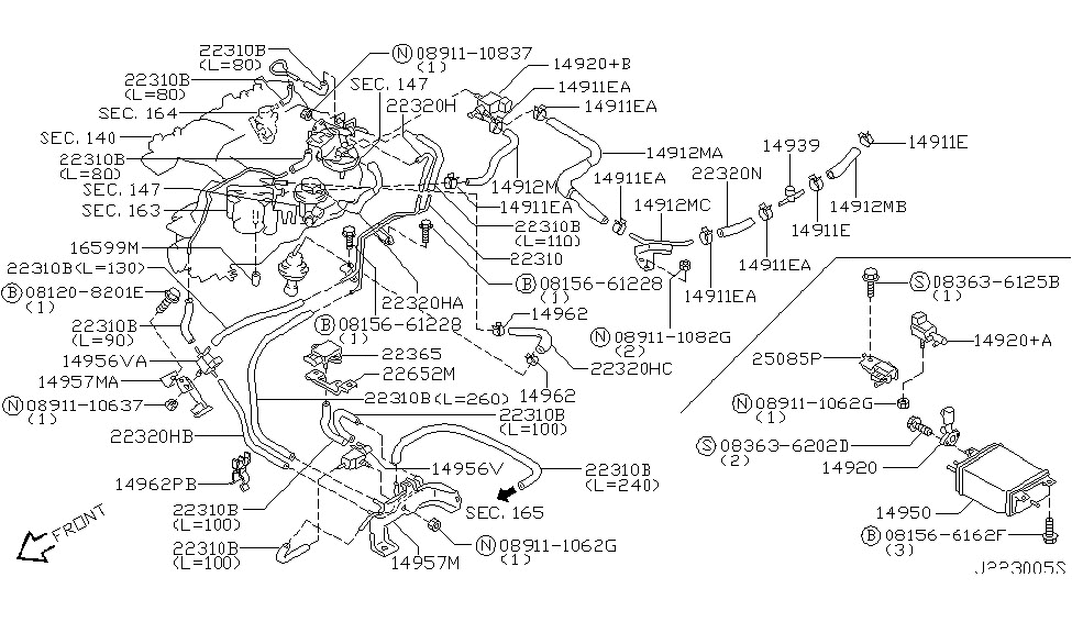 2003 Nissan Pathfinder Engine Diagram | Automotive Parts ...