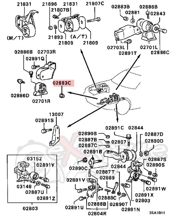 2002 mitsubishi eclipse engine diagram automotive parts. Black Bedroom Furniture Sets. Home Design Ideas