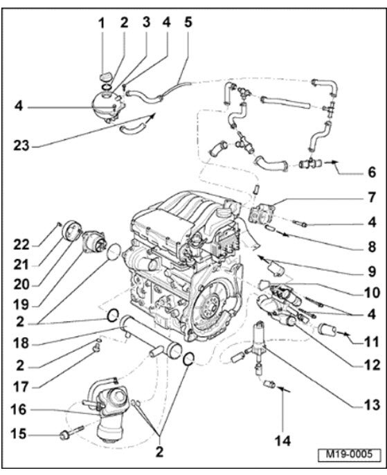 Fix A Coolant Leak: I Have A 2001 Vw Gti Vr6..i Had To Fix A Water with 2001 Vw Jetta 2.0 Engine Diagram