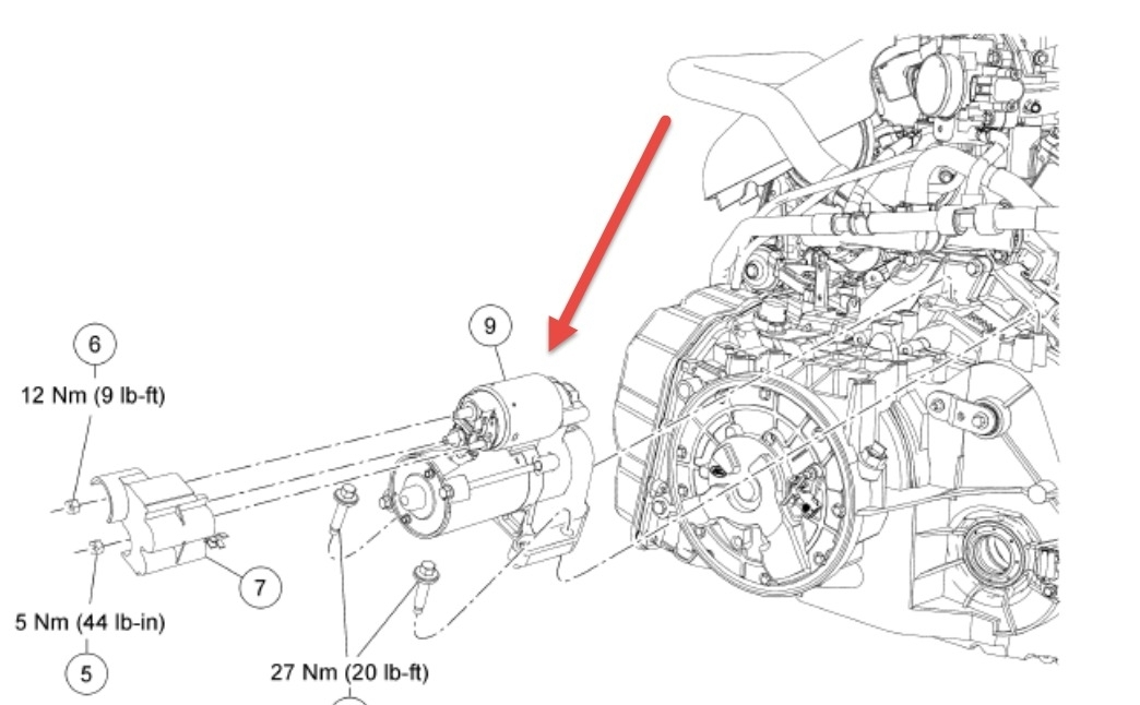 ford escape hybrid location of the starter with 2005 ford escape engine diagram ford escape hybrid location of the starter with 2005 ford escape ford starter parts diagram at readyjetset.co
