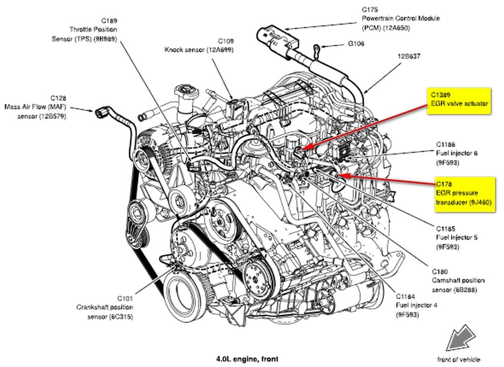 1994    Ford       Ranger       Engine       Diagram      Automotive Parts    Diagram    Images