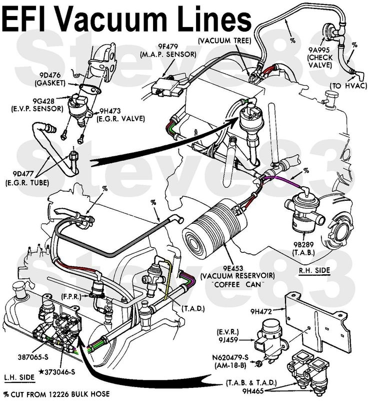 350 V8 Engine Diagram moreover Location Coil Packs 16378 moreover 1999 Ford F150 Engine Diagram together with 97 Ford Crown Victoria Fuse Box further 3 9 Liter V6 Chrysler Firing Order. on 1998 ford 4 6 firing order