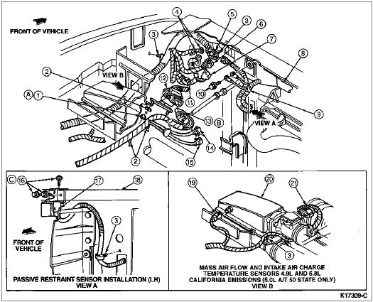 Ford F150 Engine Diagram 1989 | Loose Ground? - 80-96 Ford Bronco within Ford 5.4 L Engine Diagram