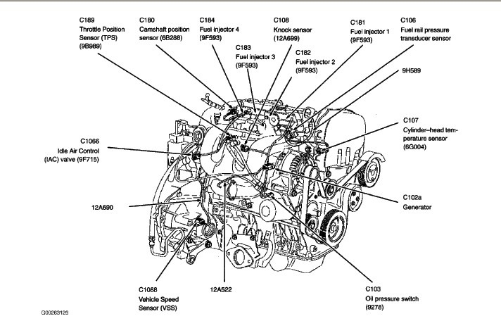 Ford Focus Questions - Where Is The Throttle Position Sensor throughout 2000 Ford Focus Engine Diagram