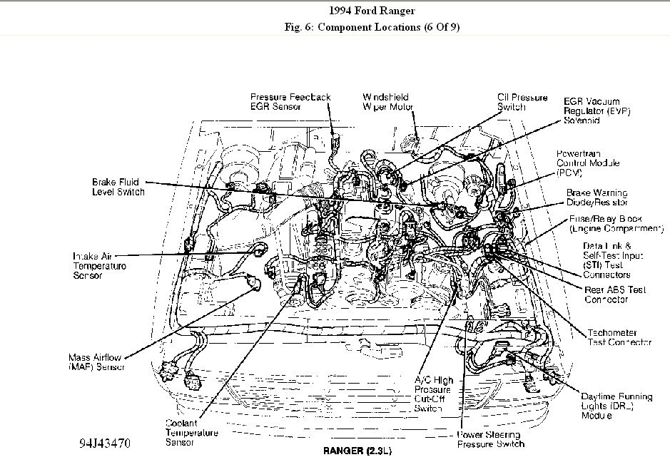 1994 Ford Ranger Engine Diagram Automotive Parts Diagram