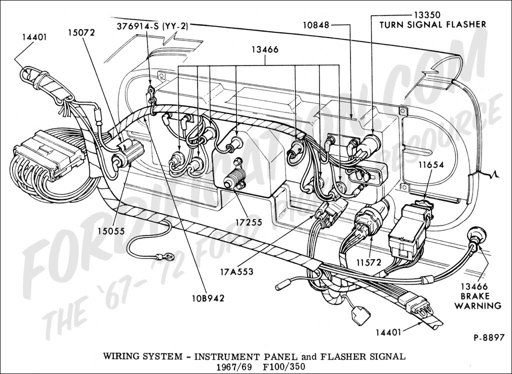 Ford Truck Technical Drawings And Schematics Section I Intended For 1986 Ford F150 Engine Diagram on 2008 ford explorer radio wiring diagram