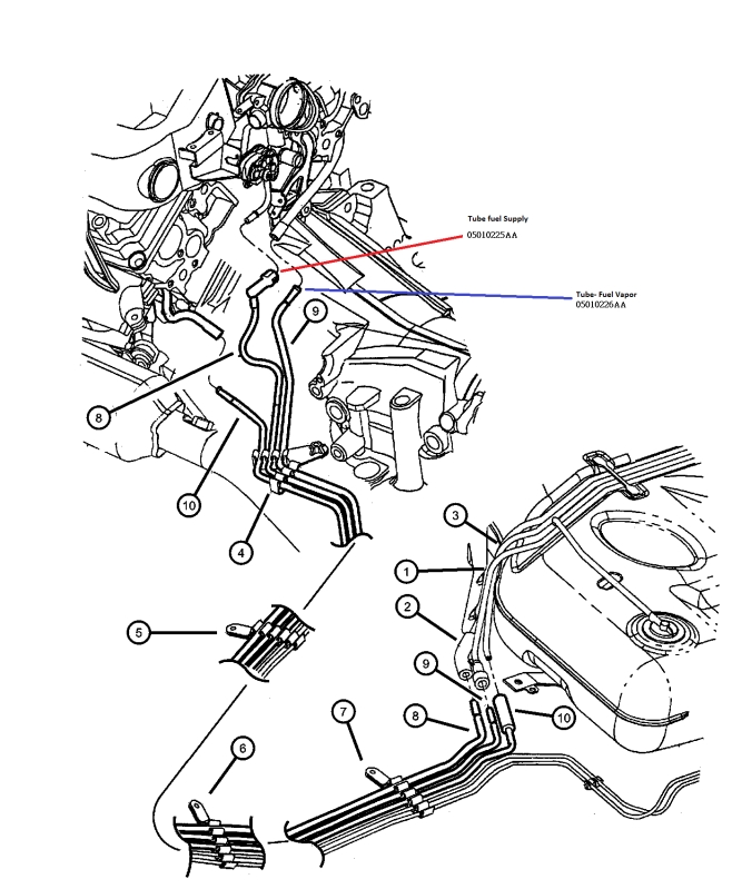 Fuel Smell Problem - Dodgeintrepid Forums - Dodge Intrepid in 2002 Dodge Intrepid Engine Diagram