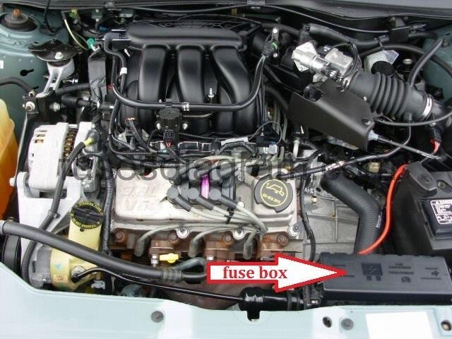 Fuses And Relays Box Diagram Ford Taurus 2000-2007 pertaining to 2000 Ford Taurus Engine Diagram