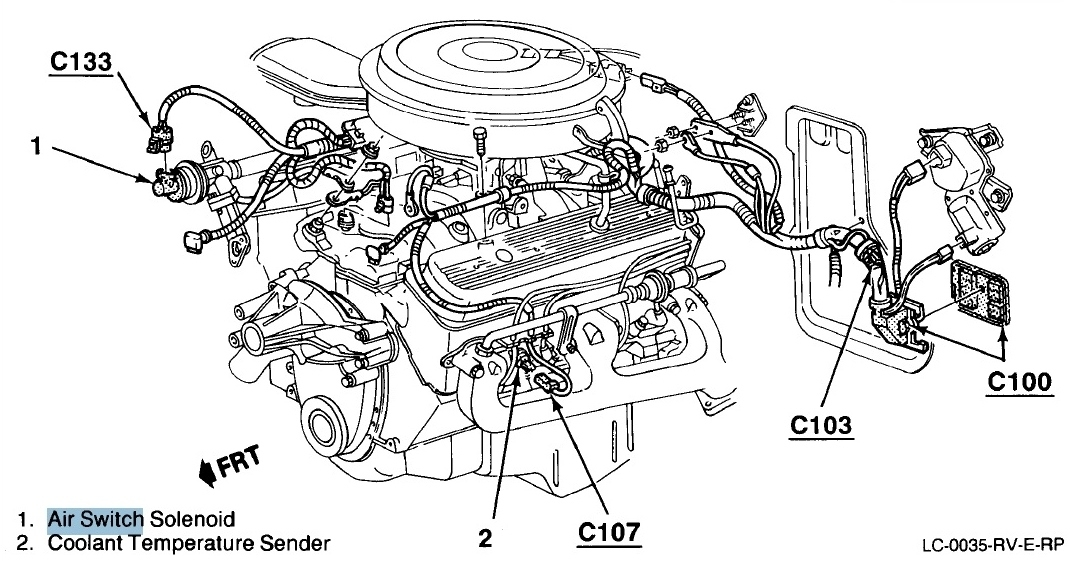 RepairGuideContent besides 1964 Dodge D100 Wiring Diagram besides 350 5 7 Engine Diagram as well 2000 Chevy Blazer Transfer Case Vacuum Diagram further 2002 Toyota Tundra. on 1989 silverado frame