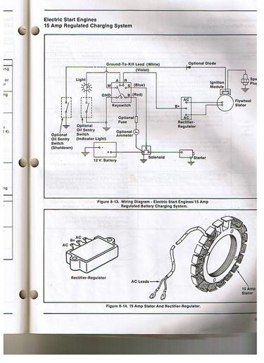 Gravely Mower Charging Issues - Yesterday's Tractors with regard to Kohler Engine Charging System Diagram