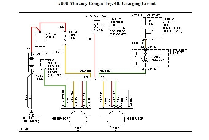 help i have a 2000 mecury cougar it has been broken down for within 2000 mercury cougar engine diagram 2000 mercury cougar engine diagram automotive parts diagram images 2000 mercury cougar fuse box layout at bakdesigns.co