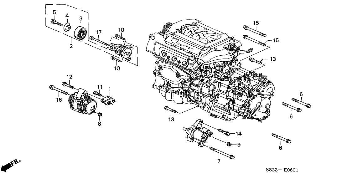 1999 Honda Accord V6 Engine Diagram | Automotive Parts ...