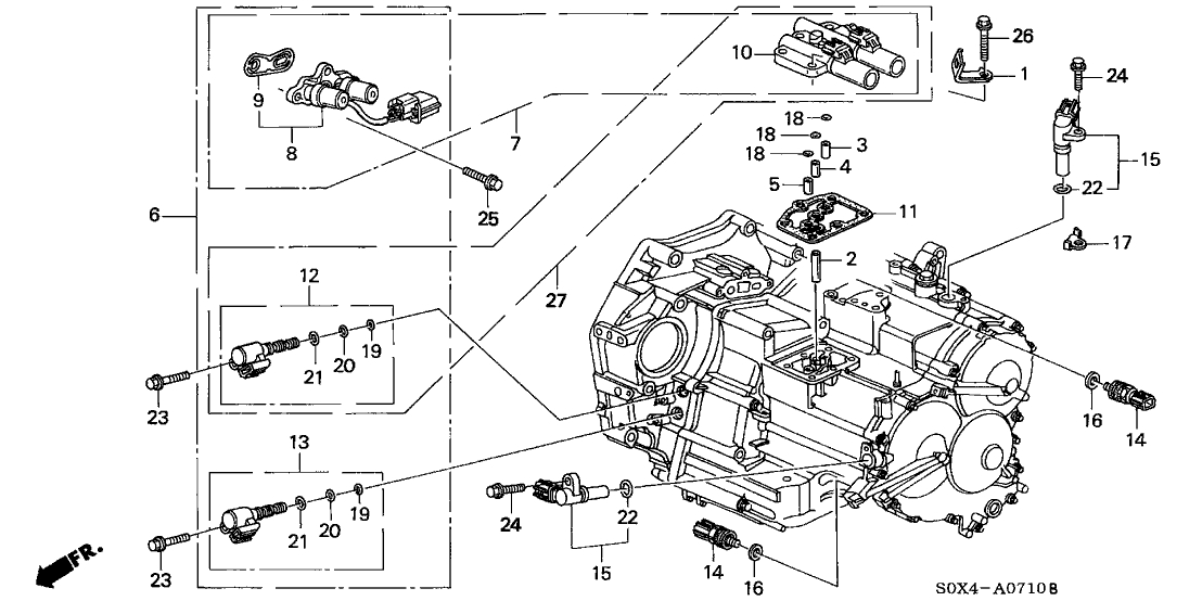 Honda Odyssey 5 Door Van Ka 4At At Sensor - Solenoid within 2000 Honda Odyssey Engine Diagram