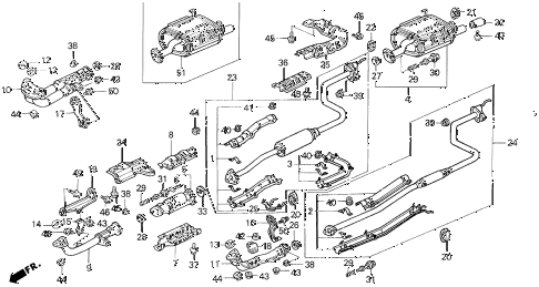 Honda Online Store : 1995 Civic Exhaust System Parts pertaining to 1995 Honda Civic Engine Diagram
