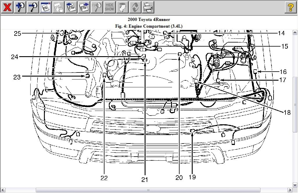 2000 Toyota    4Runner       Engine       Diagram      Automotive Parts    Diagram    Images