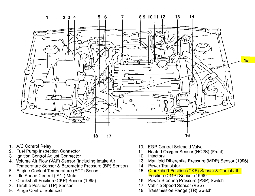 2008 Hyundai Elantra Engine Diagram