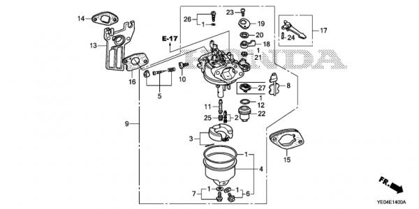 I Have This 5.5 Hp Honda Water Pump That Wont Run Without The for Honda 5.5 Hp Engine Carburetor Diagram