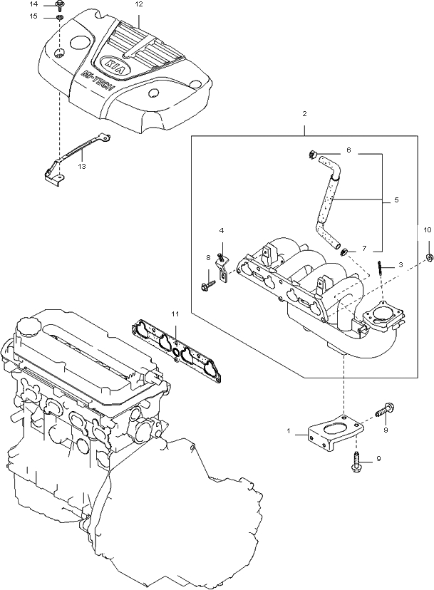 2003    Kia       Rio    Engine    Diagram      Automotive Parts    Diagram    Images