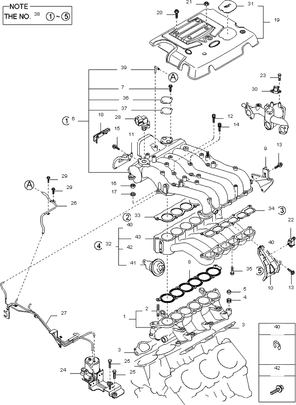 Intake Manifold For 2003 Kia Sorento | Kia Parts Now within 2003 Kia Sorento Engine Diagram