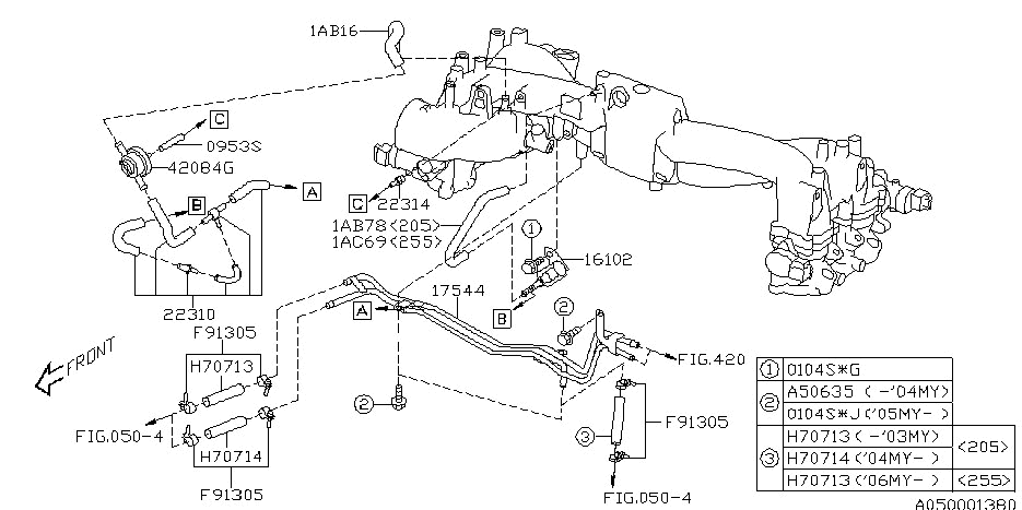 Intake Manifold For 2003 Subaru Impreza Wrx | Subaru Parts Deal inside 2002 Subaru Wrx Engine Diagram