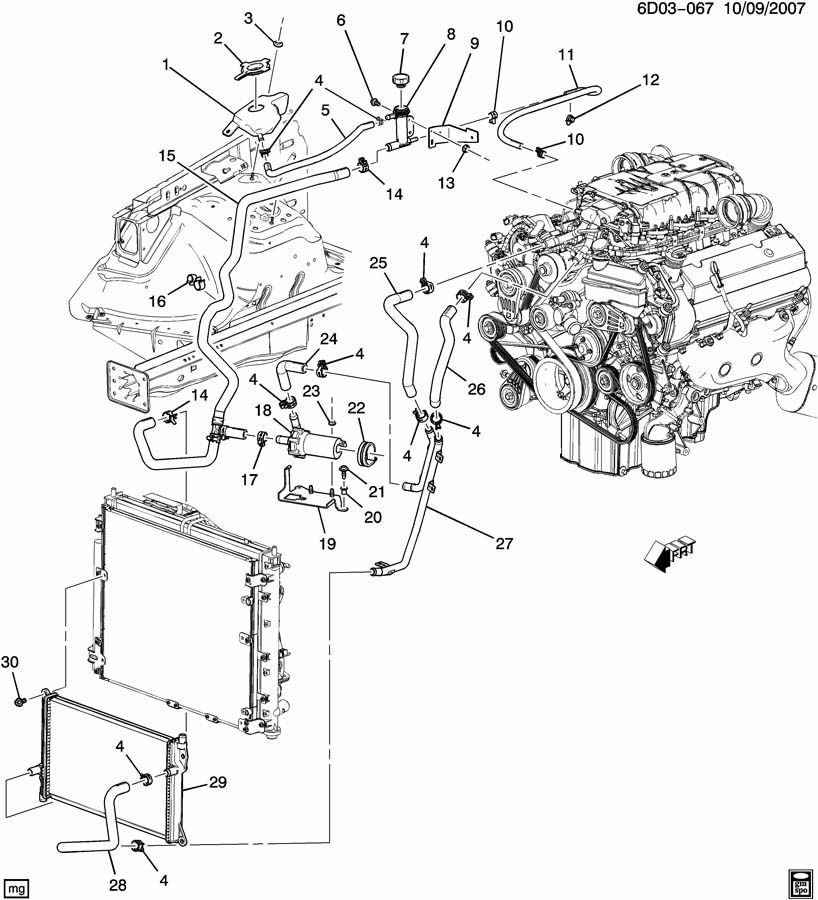 Plymouth Engine Cooling Diagram : Cadillac cts engine diagram automotive parts