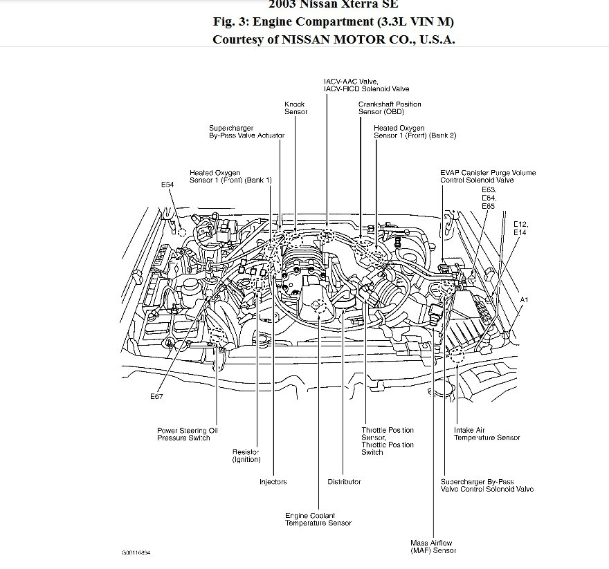 Ive Been Looking For The Crankshaft Sensor I Can Not Find It Can in 2001 Nissan Xterra Engine Diagram