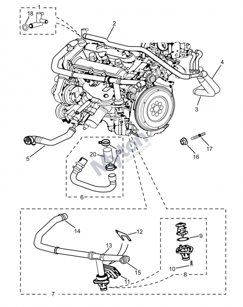 Jaguar X-Type - Radiator Hoses-Petrol Diagram - Justjagsuk regarding 2003 Jaguar X Type Engine Diagram