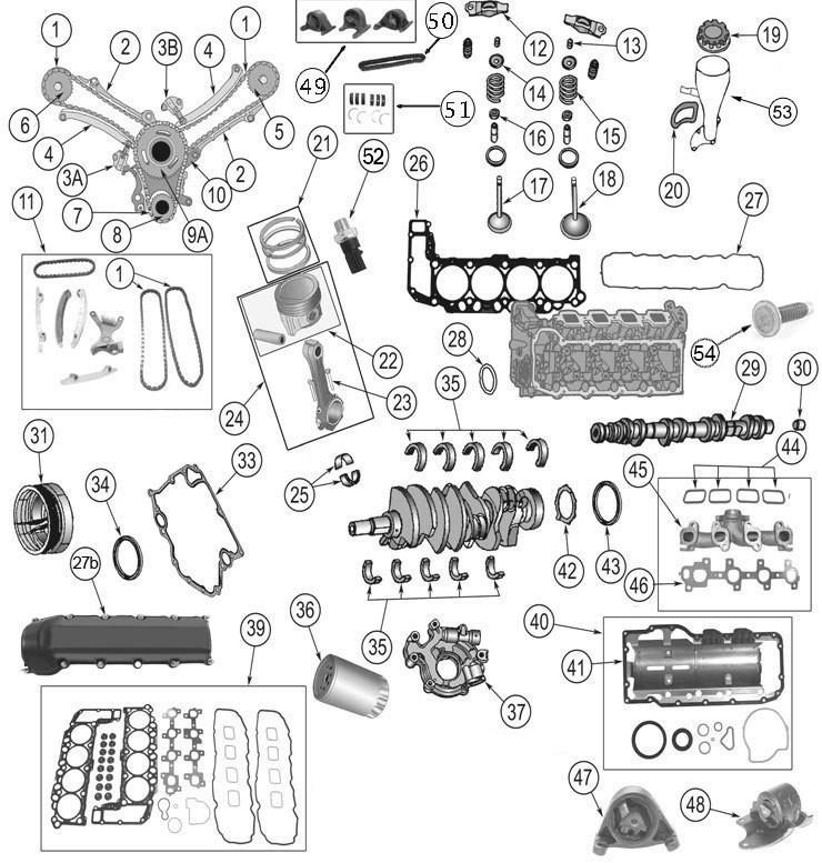 Jeep Engine Parts | 4.7 Liter Daimler-Chrysler Engine | Morris 4X4 within 2007 Jeep Commander Engine Diagram