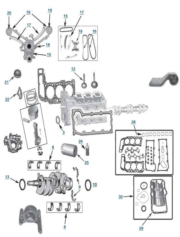 Jeep Liberty 3 7l Engine Parts Free Shipping At 4wd