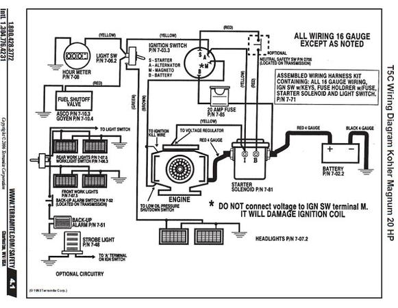 Kohler Engine Charging System Diagram