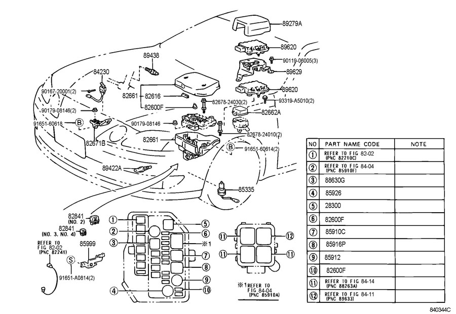 2001 Lexus Es300 Fuse Box Diagram : Lexus es engine diagram automotive parts