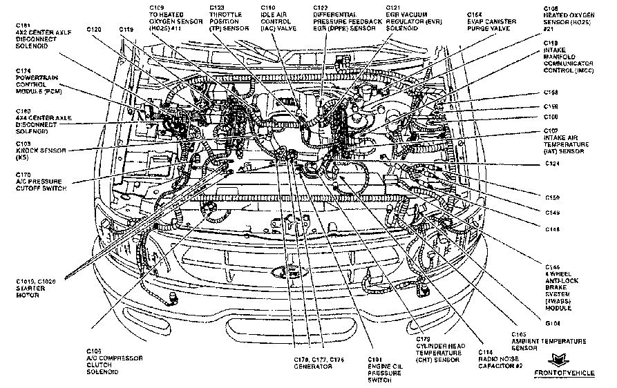 ford 4 6 liter engine vacuum diagram 1997 ford f150 4.6 engine diagram | automotive parts ... 4 6 liter engine diagram #11