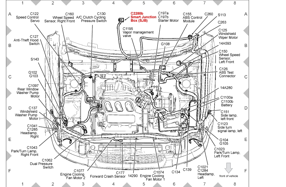 Location Of The Turn Signal Flasher For A Ford Escape Intended For Ford Escape Engine Diagram on 4 Cylinder 2005 Ford Escape Parts Diagram