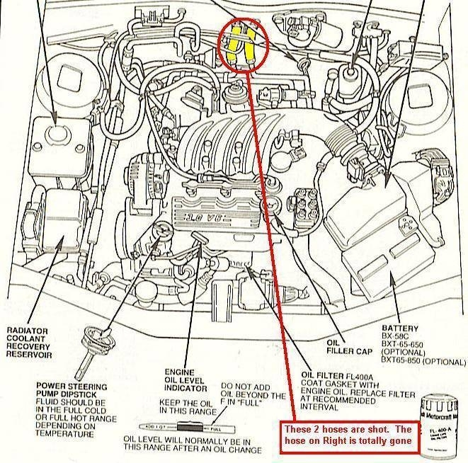 Low/no Heat - Taurus Car Club Of America : Ford Taurus Forum regarding 1999 Ford Taurus Engine Diagram