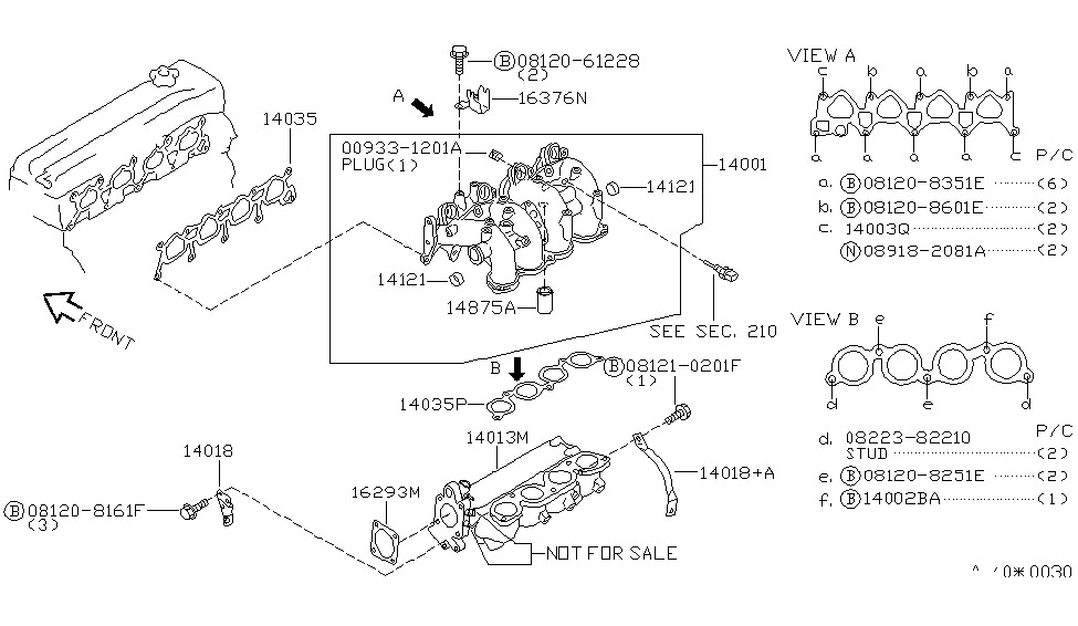 Manifold For 2000 Nissan Altima | Nissan Parts Deal in 2000 Nissan Altima Engine Diagram