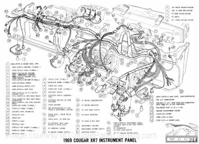 Manual - Complete Electrical Schematic - Free Download ~ 1969 with regard to 2000 Mercury Cougar Engine Diagram