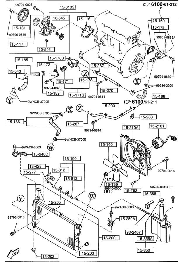 mazda mpv 2001 engine diagram
