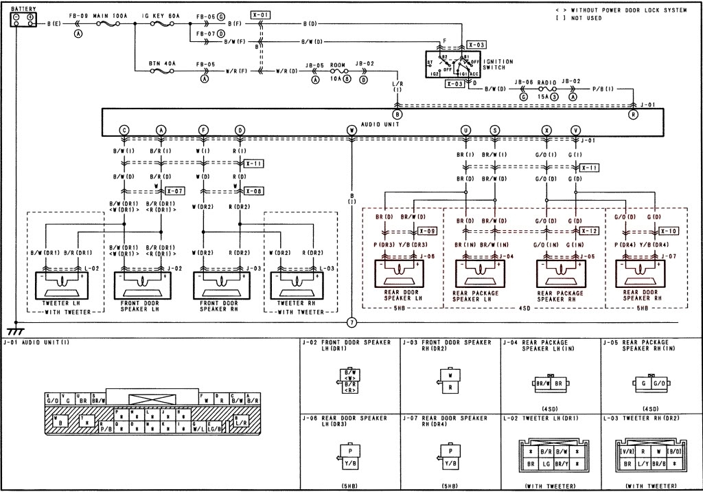 Mazda Protege/protege5 Audio Wire Diagram with regard to 2001 Mazda Protege Engine Diagram