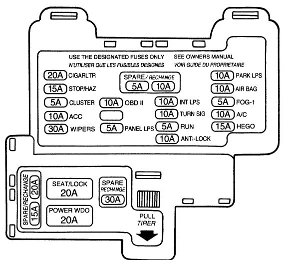 mercury cougar 7th generation 1989 1997 fuse box diagram intended for 1999 mercury cougar engine diagram 2001 mercury cougar fuse box diagram mercury wiring diagrams for 1985 Mercury Cougar at bayanpartner.co
