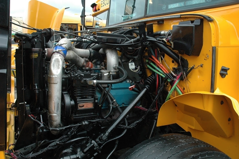 More School Bus Pics From 2009 Diesel Nationals - School Bus Fleet with regard to School Bus Engine Compartment Diagram