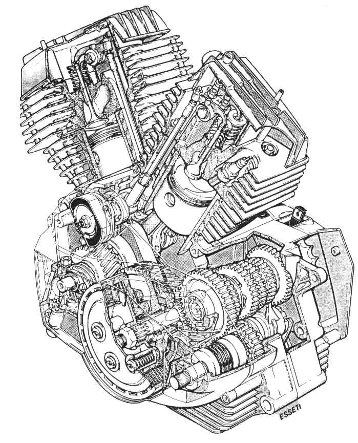Moto Morini Technische Gegevens V-Twin Motoren / Technical within Harley V Twin Engine Diagram
