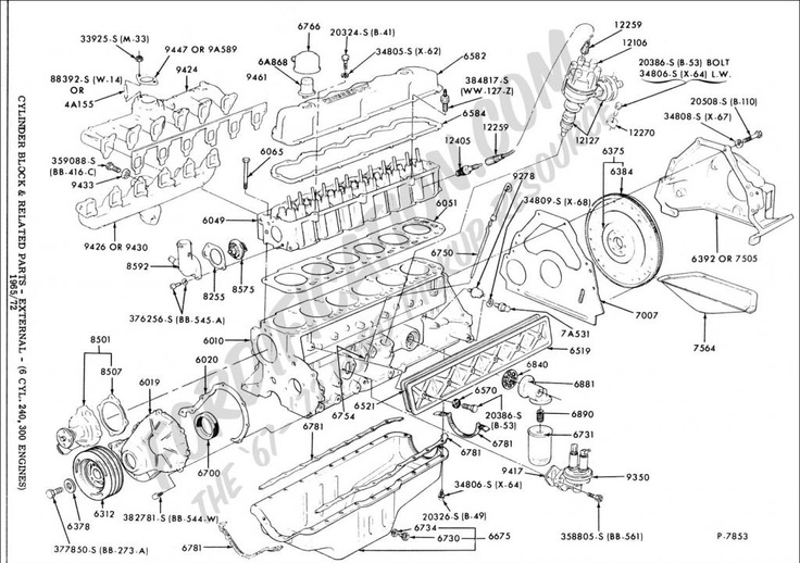 Need A Good 4.9L 300 Engine Drawing - Ford F150 Forum - Community regarding 1996 Ford Explorer Engine Diagram