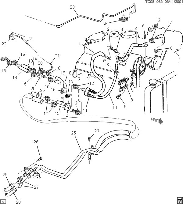 Need Heater Hose Diagram With Aux Heater | Chevy Truck Forum | Gm pertaining to 5.7 Liter Chevy Engine Diagram